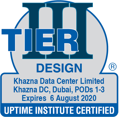 Tier III Design Certification- Khazna Data Center Limited, Dubai, POD 1,2&3