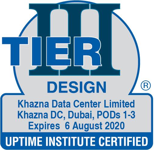 Tier III Design Certification- Khazna Data Center Limited, Dubai, POD 1,2&3