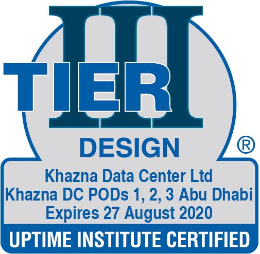 Tier III ATD Certificate – Khazna Data Center, Abu Dhabi.